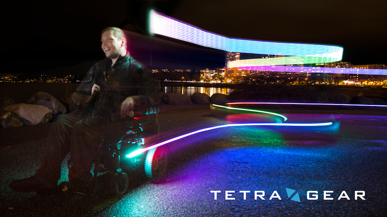 TetraGear safety lights in action