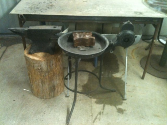 portable blacksmith forge